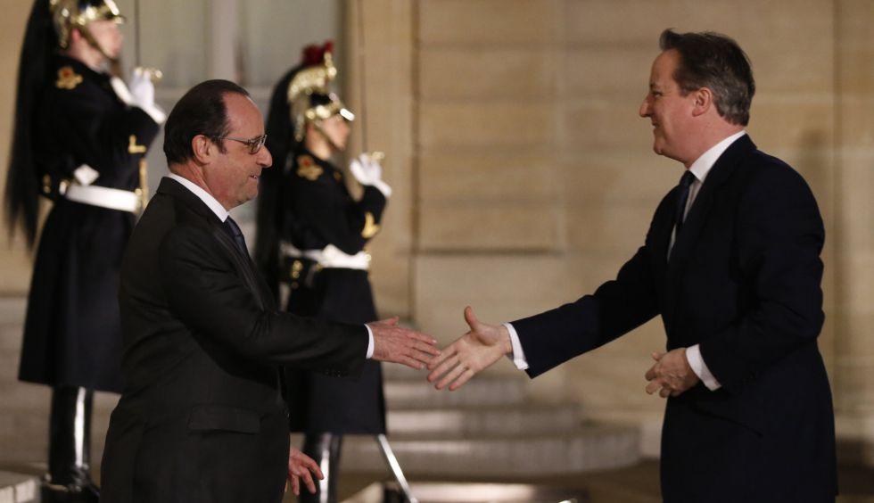 François Hollande y David Cameron.