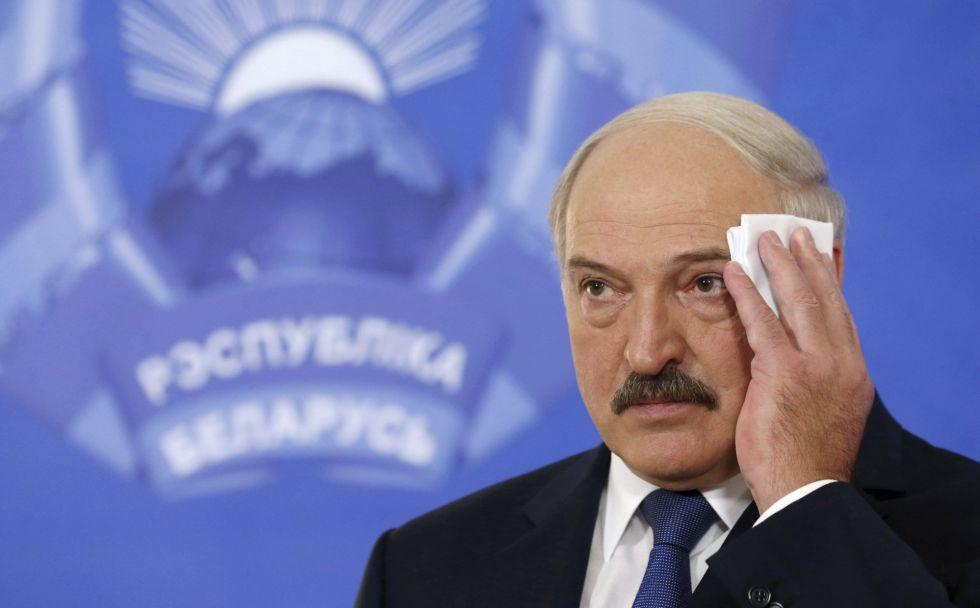 El presidente de Bielorrusia, Alexander Lukashenko, el pasado octubre en Minsk.