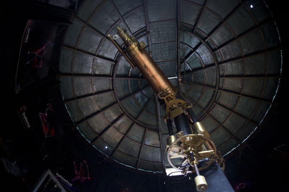El telescopio Merz, construido en 1875, en el observatorio de Quito.