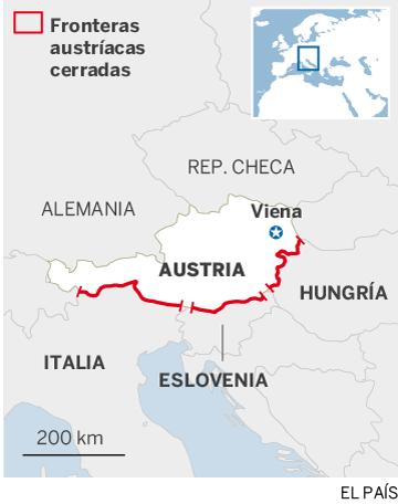 Mapa de Austria y sus países vecinos