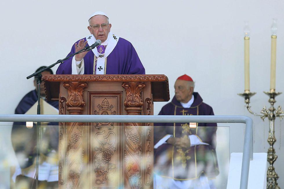 El Papa, en el estadio Venustiano Carranza.