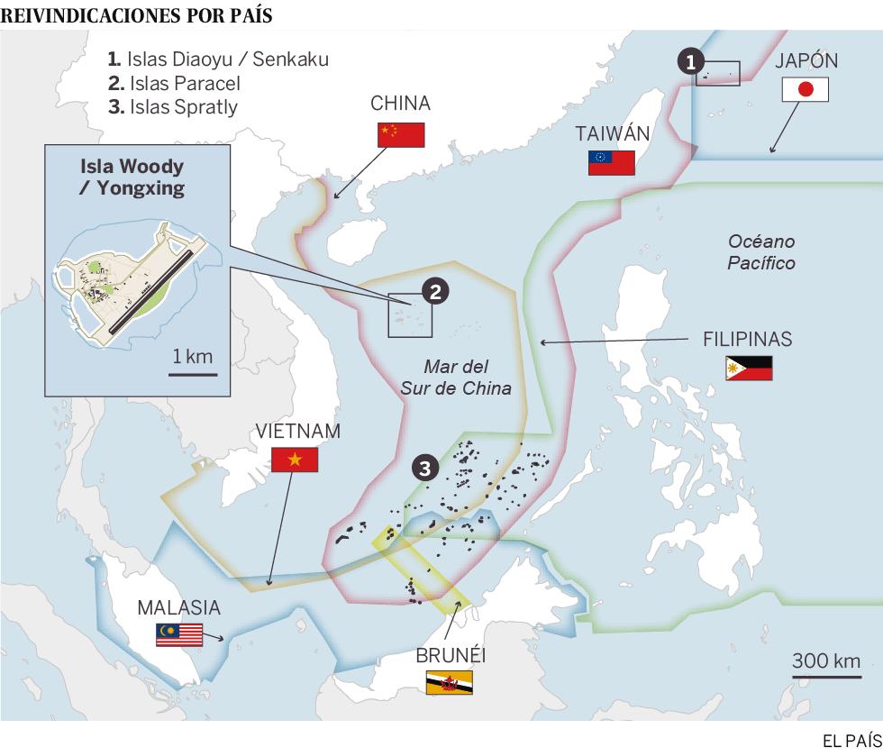 Mapa de las reivindicaciones territoriales