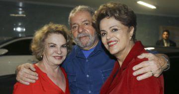 Lula con Rousseff y su esposa Marisa Leticia.