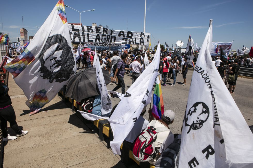 La agrupación social Tupac Amarú reclama a la libertad de Sala.