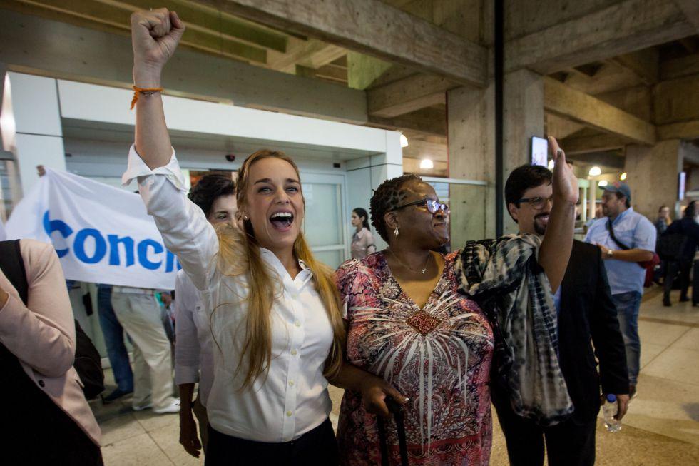 Lilian Tintori, esposa del opositor preso Leopoldo López
