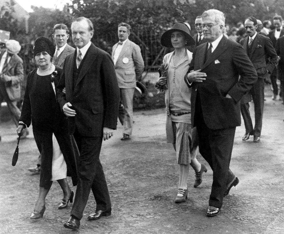 Coolidge (izquierda) fue el primer y único presidente de EE UU que visitó Cuba, en 1928. En la imagen, junto al presidente cubano, Gerardo Machado y Morales (a la derecha).