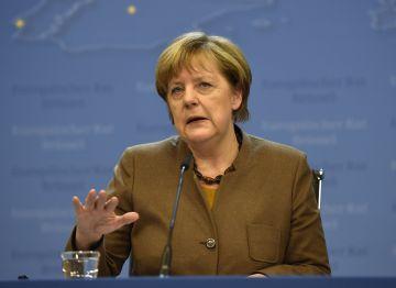 La canciller alemana, Angela Merkel, tras la cumbre del Consejo Europeo.