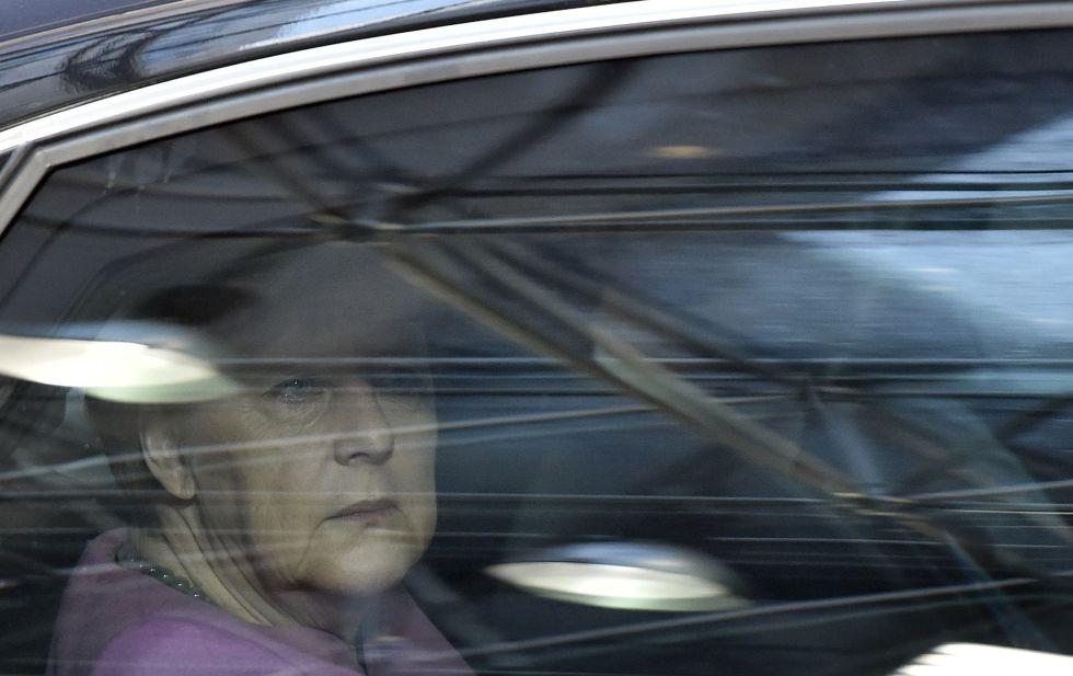 La canciller alemana, Angela Merkel, este viernes a su llegada a la cumbre en Bruselas.
