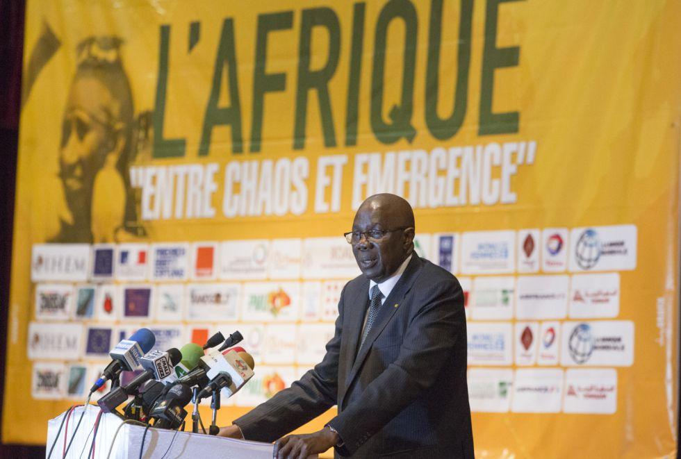 El presidente de Malí, Modibo Keita, inaugura el Fórum de Bamako 2016 en Malí.
