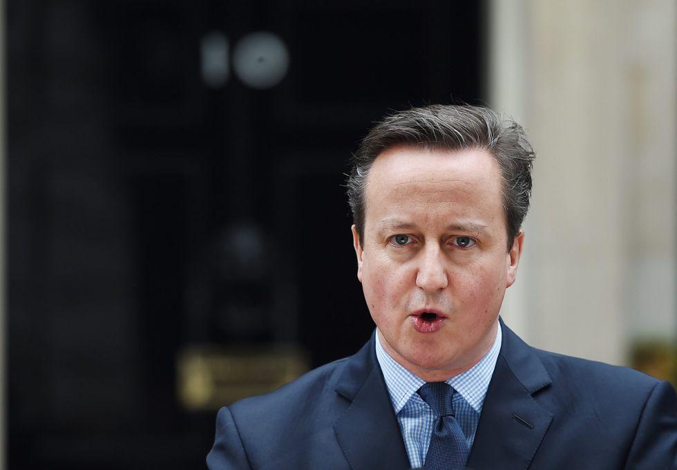 El primer ministro británico, David Cameron, este sábado en Londres.