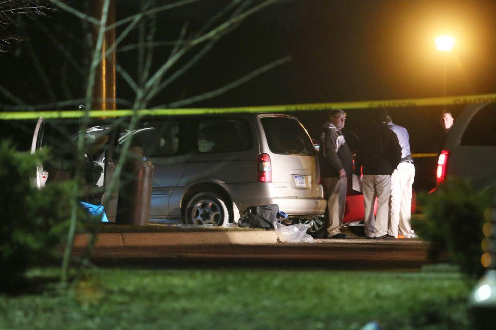 Uno de los escenarios de la matanza de Kalamazoo, Michigan