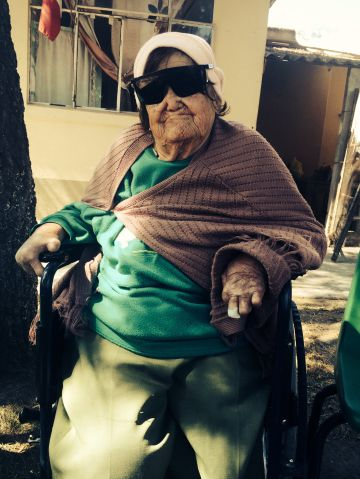 María Cárdenas, enferma de lepra, en un hospital de México
