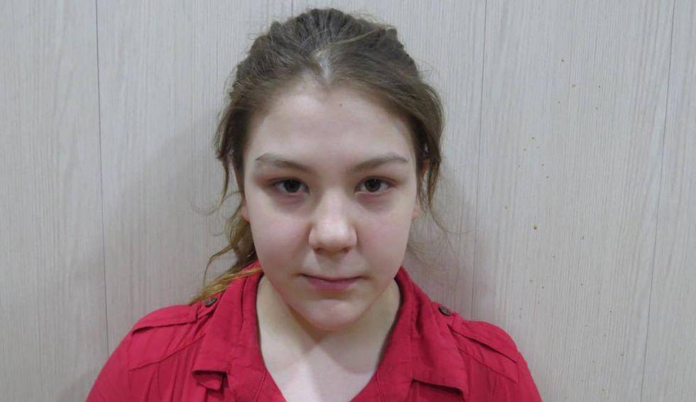 La joven sueca, tras su liberación.