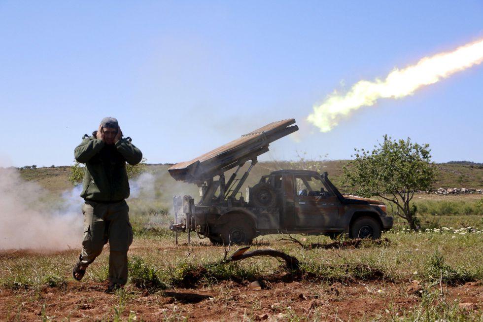 Un miliciano de Ahrar al Sham en Idlib en abril pasado.