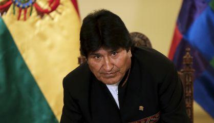 O presidente Evo Morales, em uma entrevista em La Paz.