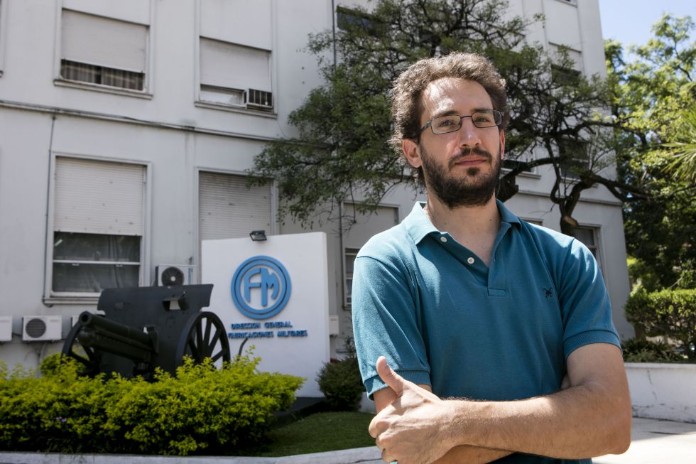 Andrés Cappa, economista despedido de la empresa estatal Fabricaciones Militares.