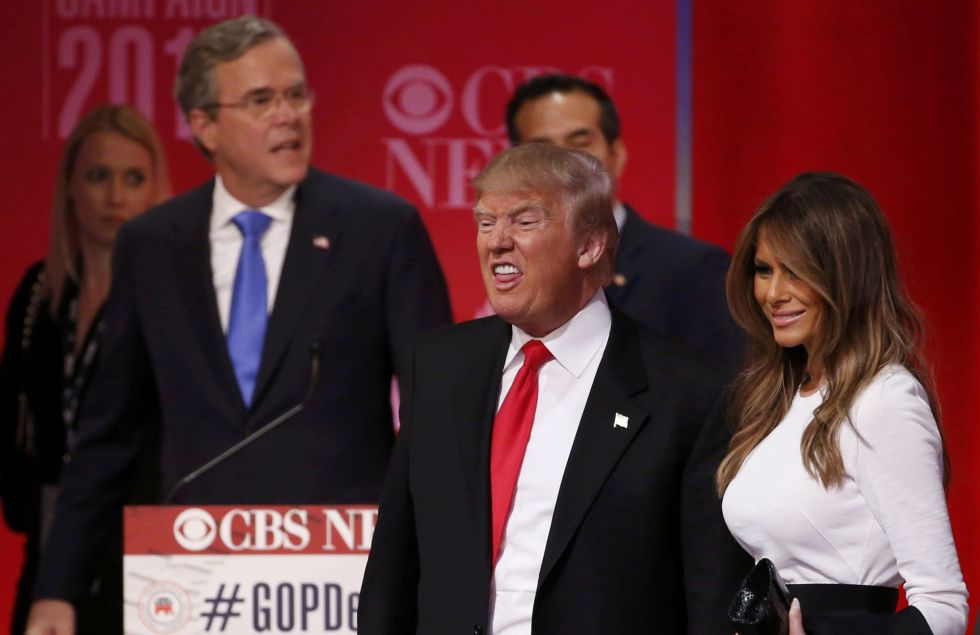 Melania Trump con Donald Trump