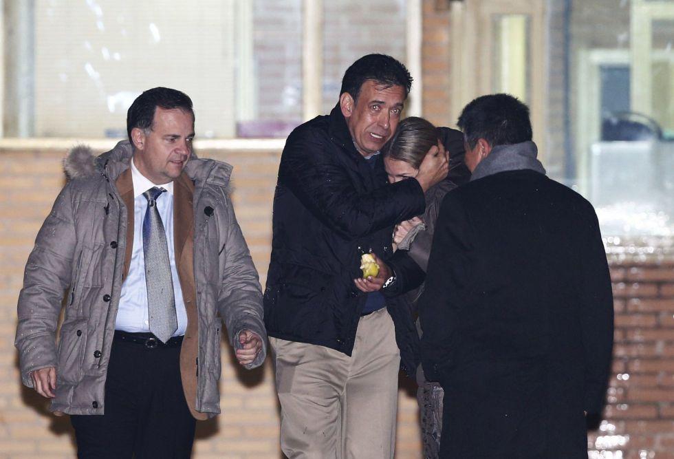 Humberto Moreira, al salir de la cárcel de Soto del Real, el 22 de enero.
