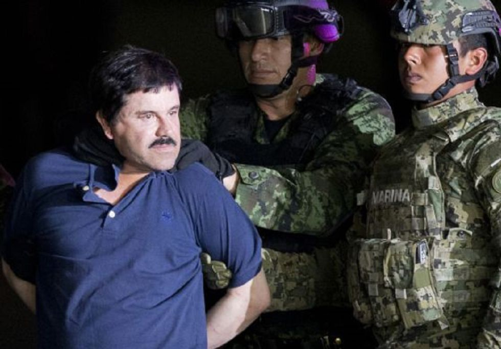 Joaquín Guzmán Loera, tras ser arrestado.