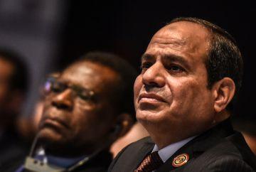 El presidente Al Sisi, en un foro económico africano celebrado en Sharm el Sheij (Egipto) el 20 de febrero.