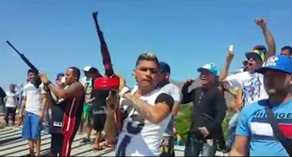 Salva de balas en el penal de la isla Margarita.