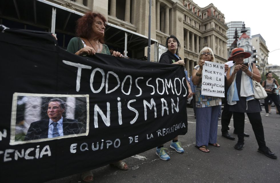 A public rally held for Alberto Nisman earlier this month.