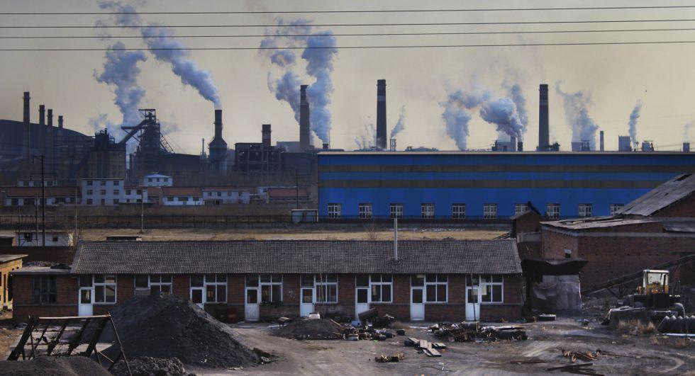 Vista de una de las áreas industriales de la ciudad de Muchangkou, en la región de Tangshan.
