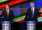 Rubio ataca la credibilidad de Trump en el debate republicano