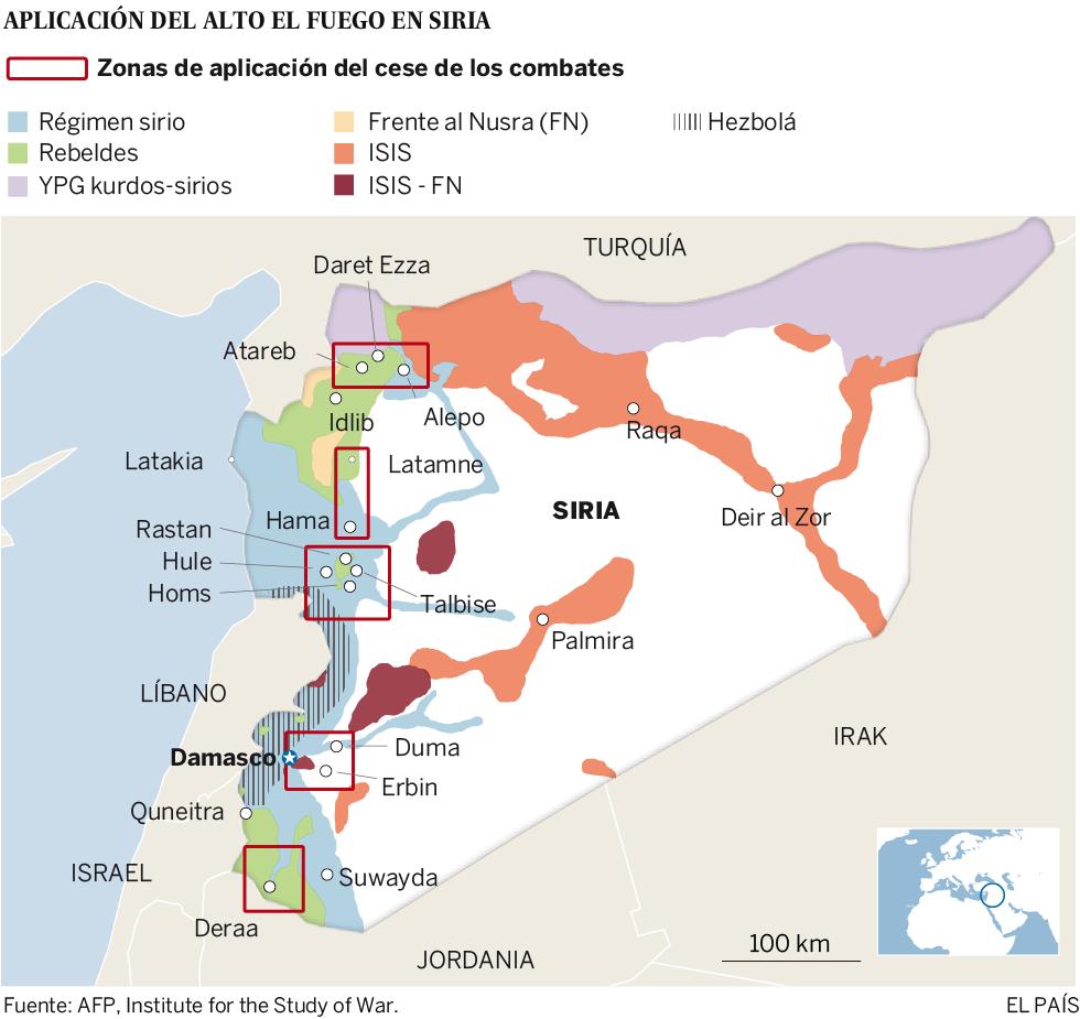 La tregua se mantiene en Siria a pesar de algunos incidentes