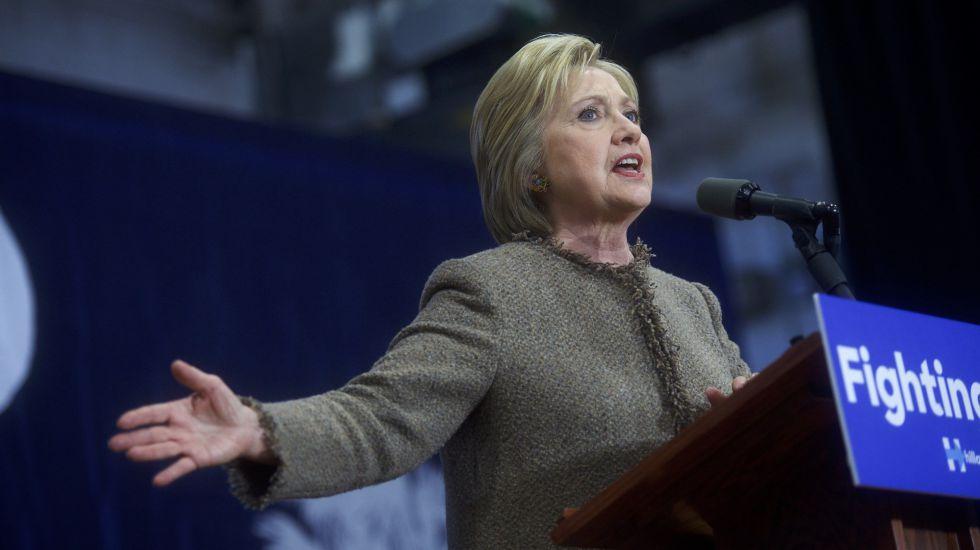 Clinton, este viernes en Orangeburg, Carolina del Sur