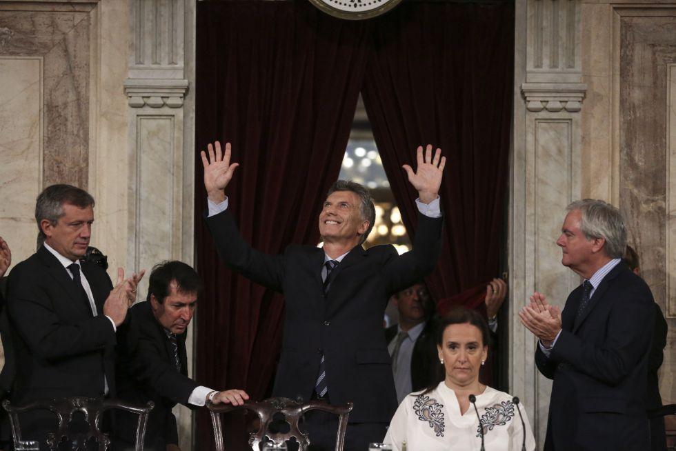 El presidente de Argentina, Mauricio Macri, a su llegada este martes a la apertura de sesiones del Congreso de su país.