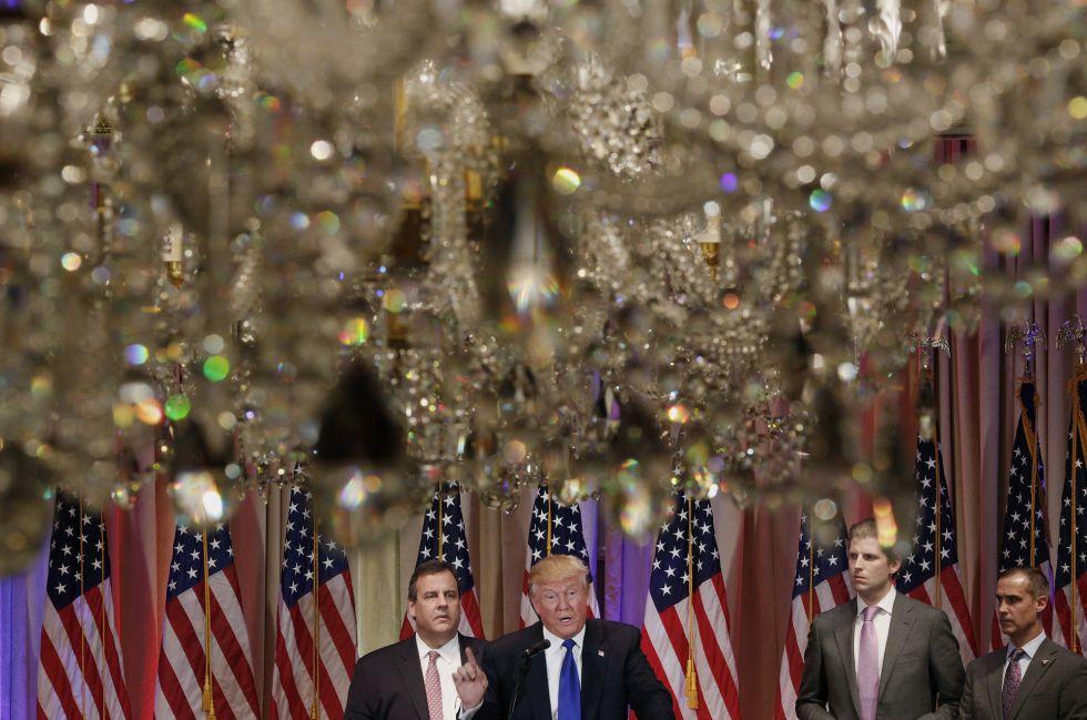 Trump y Christie (izquierda).