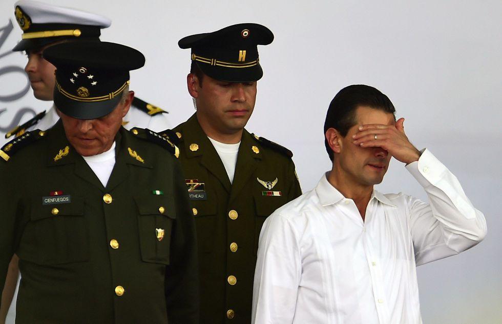 Enrique Peña Nieto durante un evento en Iguala, Guerrero.