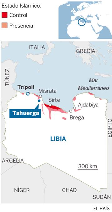 Localizador de la localidad libia de Tahuerga