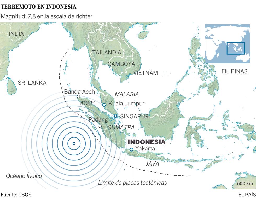 Levantada la alerta de tsunami en Indonesia tras un fuerte terremoto