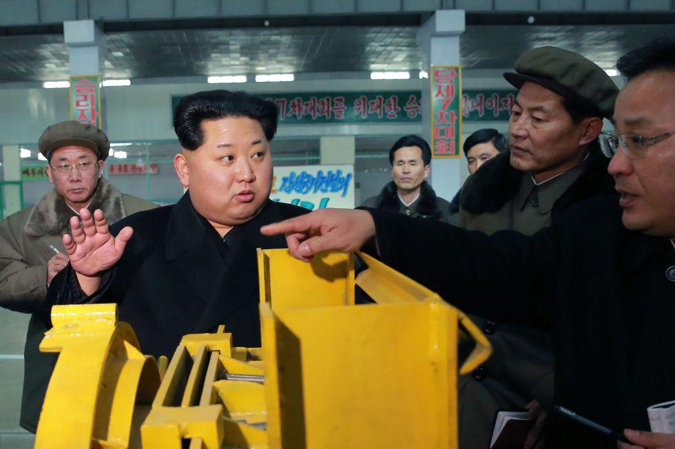 El líder norcoreano, Kim Jong-un, en una foto difundida este miércoles.
