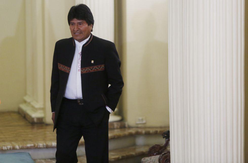 Morales, en el palacio de Gobierno de La Paz