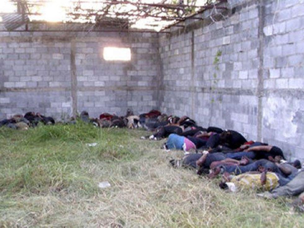 Los 72 cadáveres encontrados en San Fernando en 2010.