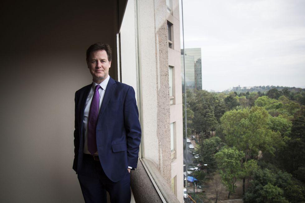 Nick Clegg, en la Ciudad de México.