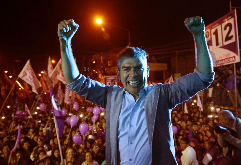 El candidato presidencial peruano Julio Guzmán en Arequipa el pasado martes.