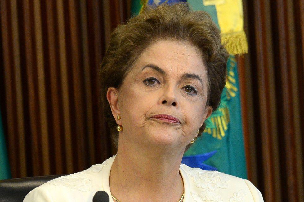 La presidenta de Brasil, Dilma Rousseff, este viernes en Brasilia
