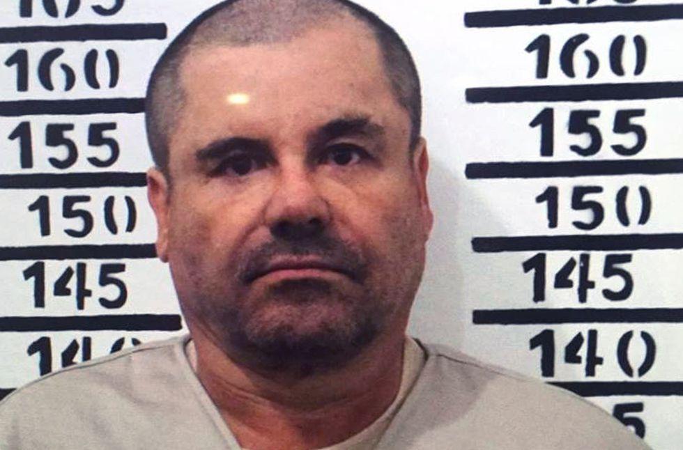 El Chapo Guzmán, en su ingreso al penal del Altiplano.