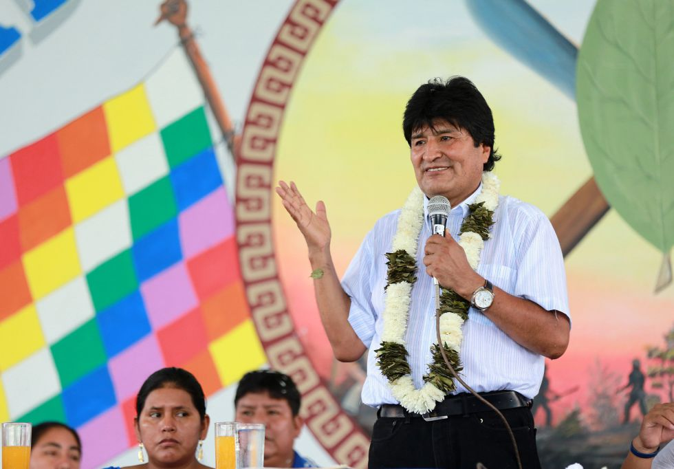 Evo Morales, el pasado viernes en el Chapare.