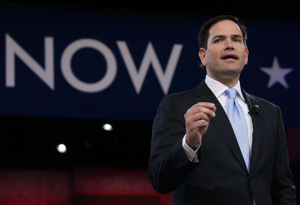 El senador republicano Marco Rubio en la CPAC.