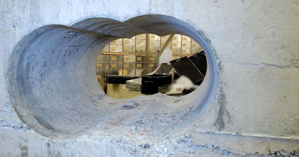 El agujero que hicieron los ladrones de Hatton Garden.