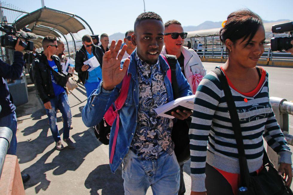 Ciudadanos cubanos en Ciudad Juárez el pasado 24 de febrero.