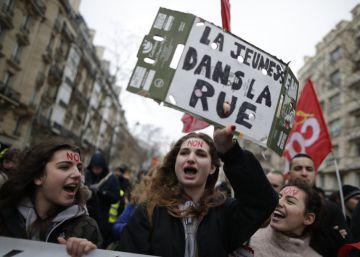 Los jóvenes lanzan la primera gran protesta contra la reforma laboral de Hollande