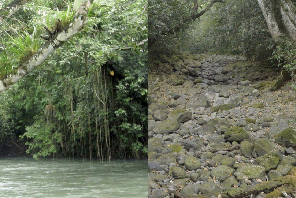 Imágenes del antes y después del Río Atoyac.