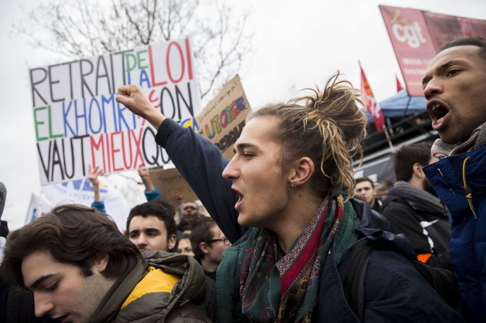 Protestas por la reforma laboral en Francia