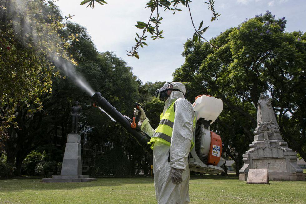 Las fumigaciones se realizan en el corazón mismo de Buenos Aires.